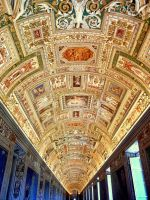 Ceiling in the Gallery of Maps by Aisha99