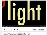 Kinetic Typography: Leather for Hell [LINK] by Aribis