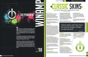 Winamp Magazine Spread by blueslaad