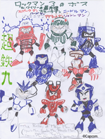 Mega Man 3 Bosses by Chotetsumaru