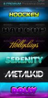 8 Premium Photoshop Styles 2 by fluctuemos