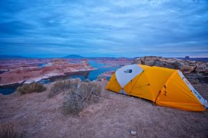 Camping at Alstrom Point by wmandra