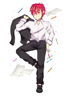 Elsword in Office Suit by BlackWatchar
