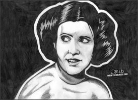 Carrie Fisher as Princess Leia! by CreedStonegate