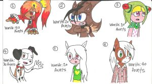 Giveaway Charas: Points 01 by cmara