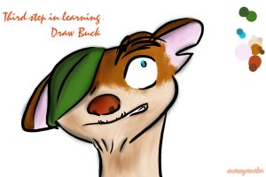 3rd step in learning.Draw Buck by marvyanaka