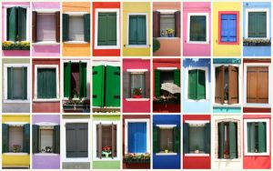 Windows of Burano by thecosyplace