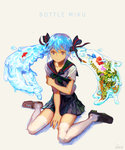 Bottle Miku by 2gold