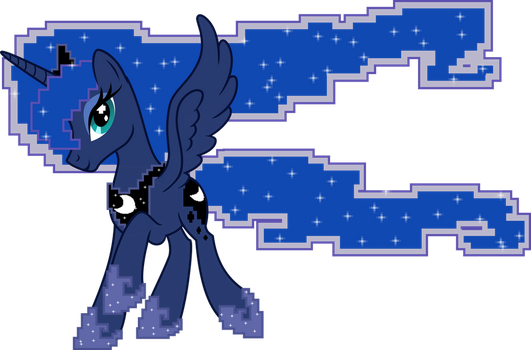 Gamer Princess Luna by UP1TER