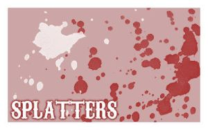 Splatter Brushes set. 5 by Chlotte