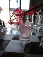 Frosted Knight Chess Pendant by akiseo
