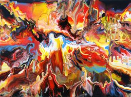 Melting Landscape Painting by Mark-Chadwick