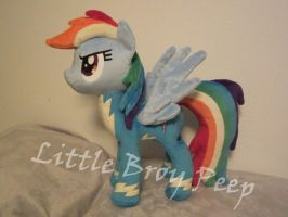 mlp Wonderbolt Rainbow Dash plush by Little-Broy-Peep