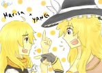 TouhouxRWBY: Marisa's Hat, Yang's Scarf by pockynuko12000