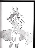 Monocrome Lapin by v-b-rose9