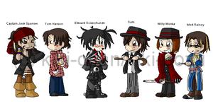 Johnny Depp Characters by kiki-bozu