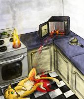 Microwave Kittehs by picklesandhugs