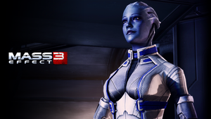 Liara T'soni Wallpaper (Normandy / extended cut) by Strayker