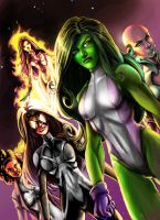 Lady Avengers Assemble by JamieFayX