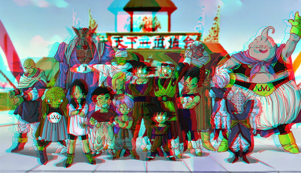 Dragon Ball Z in 3D Anaglyph by xmancyclops