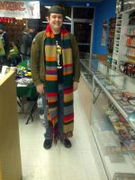 4th Doctor (Tom Baker) Scarf/Jump Rope by doctorwoo42