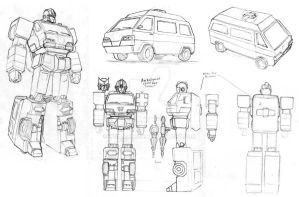 tf study: ironhide and ratchet by beamer