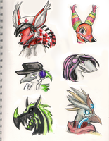 Lapfox Doodles by Rosemary-the-Skunk