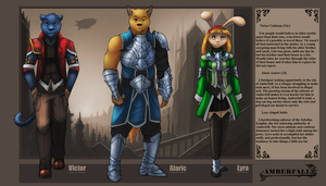 Amberfall character line up by 7THeaven