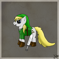 Link as my little pony by Keshyx