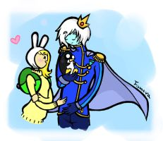 Fionna and Ice Prince by fIOMERA