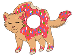 Donut Cat by CascadingSerenity