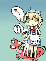 Alice + Rabbit by NightmaresInChibi