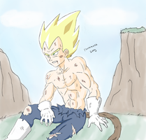 RE: Vegeta after battle by puricoXD