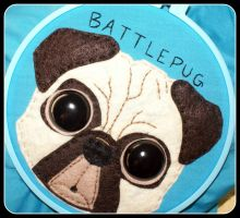 Battle Pug -Day 2- by oywiththeplushies