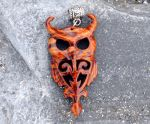 Wooden owl pendant by JOVictory