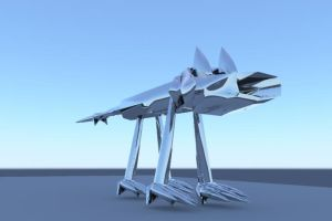 Chrome Wolf 3-d Model by RayValentine