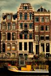 amsterdam, boat and house 1890 by pauljavor
