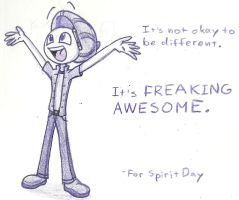 Spirit Day should be everyday. by Trace-101