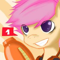Gamer Scootaloo by Sagasshi