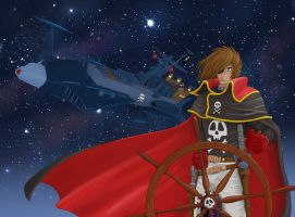 Captain Harlock by shaksa