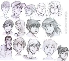 A Variety of Styled Faces by Howell