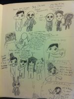 Dr. Isaac/Binding of Tran doodles by Opal-the-fluffmaker