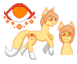 Psychic fox pony Adopt by ShifterDreams