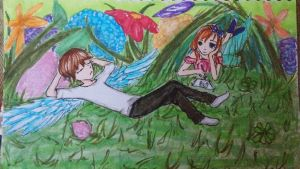 And there was an Angel in my Garden by sabitan