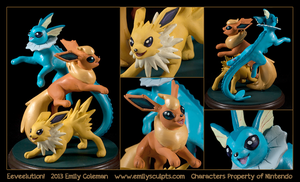 Eeveelution! by emilySculpts