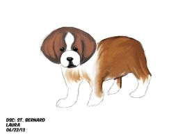 Daily Sketch Challenge: St. Bernard by subatomiclaura