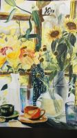 Painting of Painting of Flowers, Vases, and Stuff by YukiraHanou