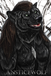 Winter AnsticeWolf badge by AnsticeWolf