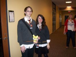 Hermione and Harry by 0-faeryfyre-0