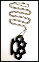 Star Black Knuckle Necklace by cherryboop